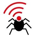 Radio spy bug icon from Business Bicolor Set vector image