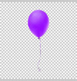 realistic purple balloon vector image vector image