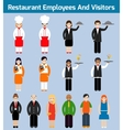 Restaurant employees flat vector image