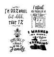 sarcastic quotes bundle silhouette badges vector image