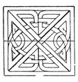 scandinavian square panel is a bas-relief design vector image vector image