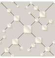seamless pattern with silver squares vector image vector image