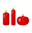 set of red cylinders with liquefied gas vector image vector image