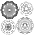 Set of Vintage backgrounds Guilloche ornament vector image vector image