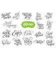 set phrase of inspirational and vector image vector image