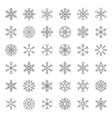 snowflakes icon pixel perfect editable stroke vector image vector image