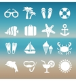 Summer rest traveling tourism vacation time icons vector image vector image