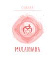 symbol chakra muladhara vector image vector image