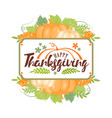 thanksgiving typographyhappy thanksgiving day vector image vector image