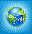 the earth day concept vector image