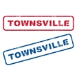 Townsville Rubber Stamps vector image vector image