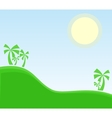 tropic landscape with palm vector image