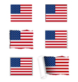 Usa flag set vector | Price: 1 Credit (USD $1)