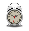 white alarm clock vector image