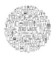 zero waste concept line art collection of eco and vector image