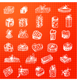 collection of gift packages vector image