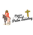 happy religion holiday palm sunday before easter vector image