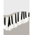 piano keys retro background vector image