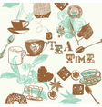 teatime background vector image