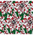stylized decorative pointsettia christmas seamless vector image