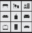 set of 9 editable home icons includes symbols vector image
