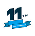 11 years anniversary logo template with a shadow