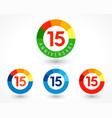 15 anniversary chart logo vector image vector image