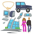2000s style fashion and technologies epoch vector image vector image