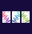 abstract banner bag round collections colors vector image vector image
