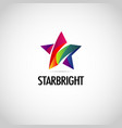 abstract colorful star logo symbol vector image vector image