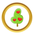 Abstract heart tree icon vector image vector image