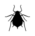 aphid silhouette vector image vector image