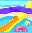 aquapark descent from a steep hill vector image vector image