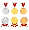 award rosette gold vector image vector image