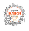 barbecue round banners vector image vector image