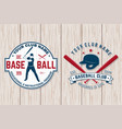 baseball club badge concept vector image