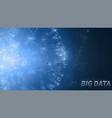 big data circular visualization futuristic space vector image vector image