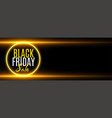 black friday sale golden glowing banner with text vector image