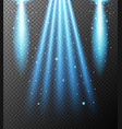 blue light shining down on gray background vector image