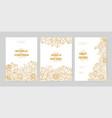 bundle wedding invitation card templates vector image vector image