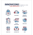 Car Services modern thin line design icons and vector image