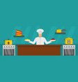 chef master cooking banner horizontal flat style vector image