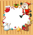 christmas frame with objects vector image