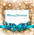 Christmas Postcard with Traditional Decoration vector image vector image