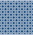 classic blue moorish seamless ornament vector image