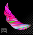 color paint 3d wave twist pink background vector image vector image