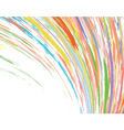 color streak vector image vector image