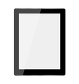 Computer tablet on white background vector image vector image