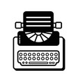 contour retro typewriter equipment with business vector image vector image