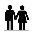 couple icon black vector image vector image